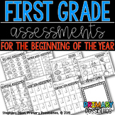 First Grade Beginning of the Year Assessments