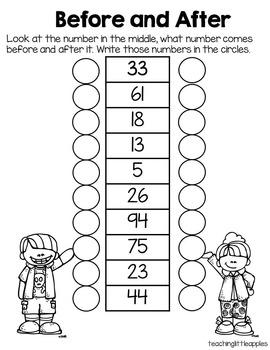 First Grade Beginning of the Year Math Assessment