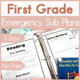 Emergency Sub Plans - First Grade
