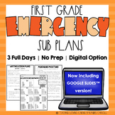 Emergency Sub Plans   First Grade   Back to School