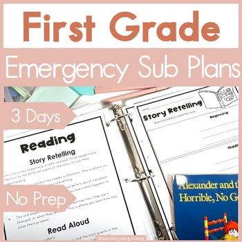 First Grade Emergency Sub Plans - 3 FULL Days!