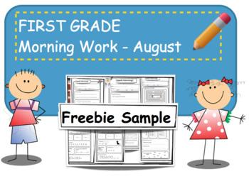 First Grade Bell Freebie Sample