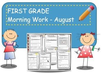 First Grade Bell Work - August