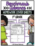 First Grade Benchmark Advance Homework Cover Sheets Melonheadz Edition