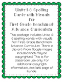 First Grade Benchmark Advance Spelling Cards U4-6