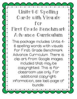 First Grade Benchmark Advance Spelling Cards U4-6