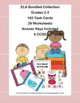 First Grade -Literacy and Math-Worksheets, Task Cards, and