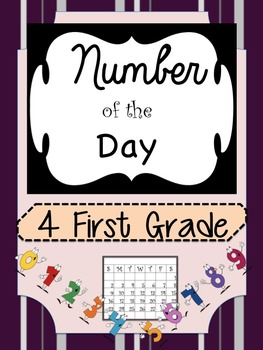 First Grade Bilingual Dual Language Number of the Day in English and Spanish