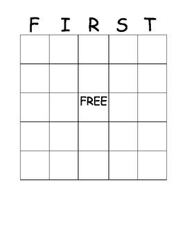 First Grade Bingo