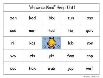 "1st Grade Journeys:  BUNDLE - ""Nonsense & Real Word"" Bingo"