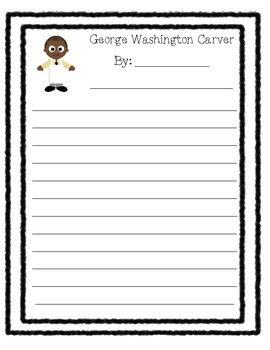 First Grade Biography Paper