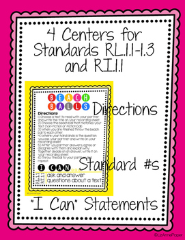 First Grade Book Nook Centers