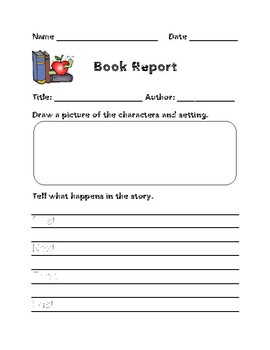 First Grade Book Report