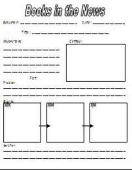 First Grade Book Report Form