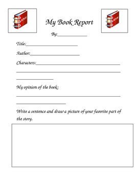 Book Report Template 1st Grade Worksheets Teaching Resources Tpt