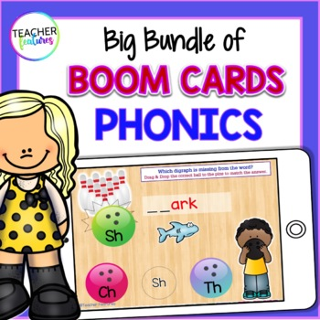 First Grade Boom Cards : 1st Grade Phonics BIG Bundle for All Year