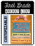 Growth Mindset: First Grade Bucket List