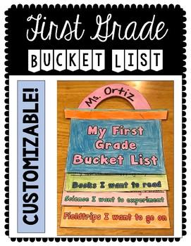 Growth Mindset: First Grade Bucket List