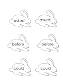 First Grade Bunny High Frequency Word Game