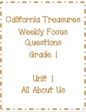 First Grade CA Treasures Weekly Theme Focus Labels