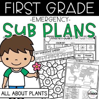 "First Grade C.C. Aligned April ""Plants"" Print & Go Sub Pla"