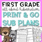 December First Grade Sub Plans Hibernation