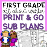 Winter First Grade Sub Plans January C.C. Aligned + Editable Sub Info