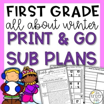 "First Grade C.C. Aligned January ""Winter"" Print & Go Sub P"