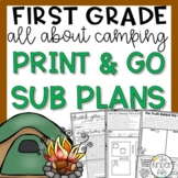 First Grade Emergency Sub Plans June Camping