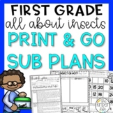 Insects Emergency May Sub Plans First Grade