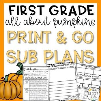 "First Grade C.C. Aligned November ""Pumpkin"" Print & Go Sub"