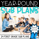 First Grade Sub Plans for the Entire Year BUNDLE - Distanc
