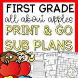 First Grade Sub Plans September Apples