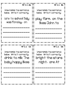 First Grade CC Guided Reading: Quick Starts Expansion Pack *Foundational Skills*