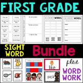 First Grade CCSS Center Sight Words Word Work Bundle