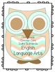 First Grade CCSS Checklist - Owl Theme