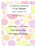 "1st Grade Common Core English Language Arts ""I Can"" Statements"