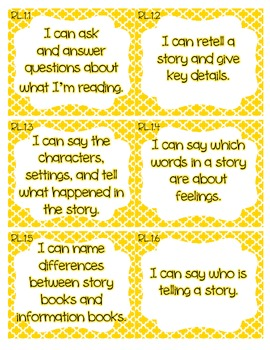 First Grade CCSS I Can Statement Display Cards