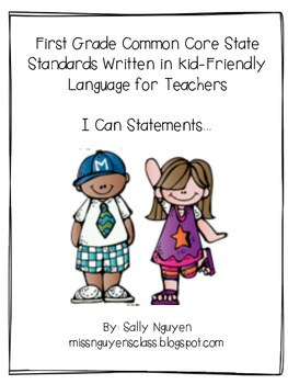 First Grade CCSS I Can Statements