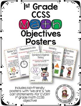 First Grade CCSS Math Objectives Poster Set