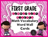 First Grade CCSS Math Vocabulary Word Wall Cards