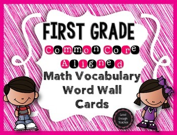First Grade CCSS Math Vocabulary Word Wall Cards