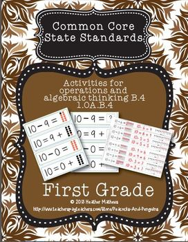 First Grade CCSS Operations and Algebraic Thinking Practice Kit B.4