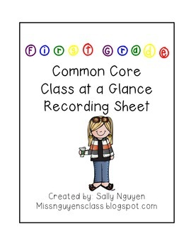 First Grade CCSS Recording Sheets
