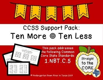 First Grade CCSS.1.NBT.C.5: Ten More/Ten Less (Two-Digit Numbers)