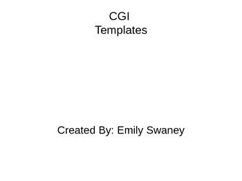 First Grade CGI templates