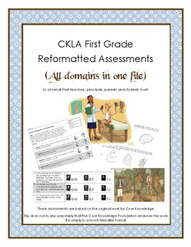 First Grade CKLA All 11 Domain Alternative Assessments in one file