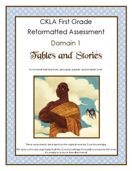 First Grade CKLA Domain 1 Fables and Folktales Alternative