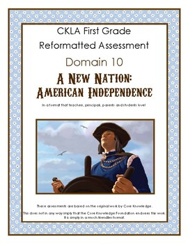First Grade CKLA Domain 10 A New Nation Alternative Assessment
