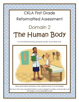 First Grade CKLA Domain 2 The Human Body Alternative Assessment